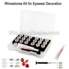Lunettes de décoration, strass Kit pour décoration de lunettes