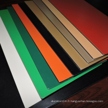 Panneau composite en aluminium brillant en aluminium Slolid Metallic
