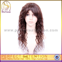 100% Remy Kinky Curly Human Hair Full Lace Chinese Wigs Factory