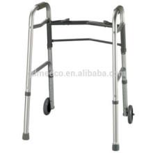 Алюминиевый складной ходунок с колесами для взрослых K002