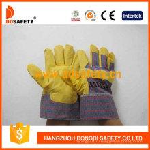Желтый ПВХ перчатки с полосой сзади Dgp101