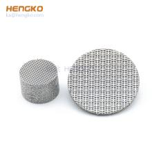 Customized 20 100 500 micron sintered metal powder 316L stainless steel mesh filter disc