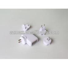 4ports USB charger for mobile, US EUR AU UK TW JP option