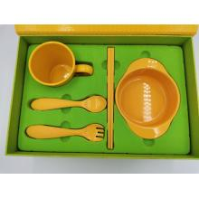 Compostable CornstrachTraining 5 Pieces Tableware Set