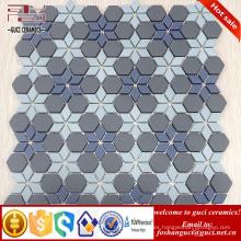 proveedor chino 2017 Nuevo Parquet diseño Arte de fondo pared de cristal de vidrio mosaico azulejo