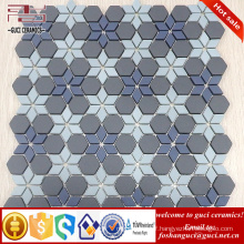 chinese supplier 2017 New Parquet design Art background wall crystal glass mosaic wall tile