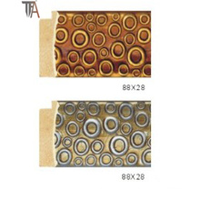 Circles Design Wood Material for Window Curtain Frame