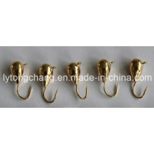 Pure Gold Color Tungsten Ice Fishing Jig Head Dia5mm USD0.28/PC
