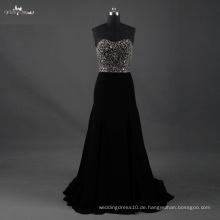 LZF003 Alibaba Schatz-heißer Verkauf ein Linie Hochzeits-Kleid-starkes bördelndes Abend-Kleider 2017
