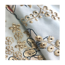 HIgh quality 2020 chinese embroidery printed fabrics for women dresses