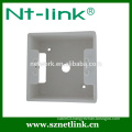 High quality dual port rj45 face plate with bottom box,suitable for rj45 keystone module jack