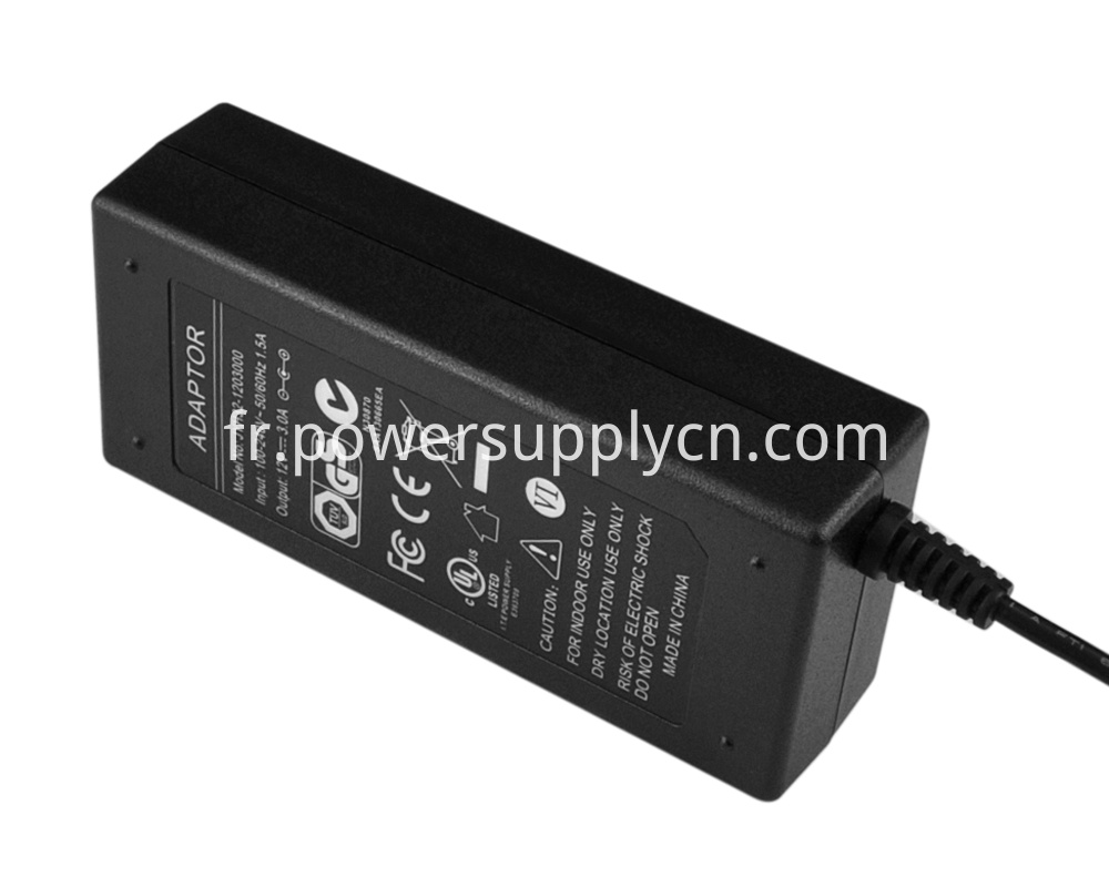 UL and DOE certified power adapter
