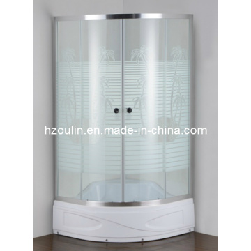 Cabine de salle de douche à plateau de coco (E-03CT plateau supérieur)