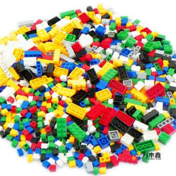 Образовательных Пластиковые детские 1000 шт строительные блоки игрушки