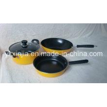 Utensílios de cozinha 4pcs aço carbono não-Stick Cookware conjunto