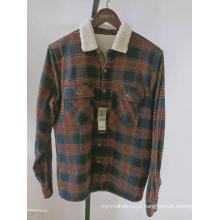 flanela berber velo forrado mens jaqueta de manga longa