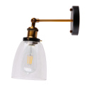 Indoor E27 Lamp Holder Glass Aplique