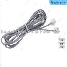 3m Cordon téléphonique téléphonique gris rj11 pour téléphones fax, modems