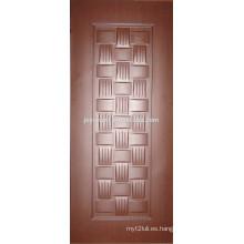 2015 nuevo diseño decorativo HDF interior melamina puerta piel