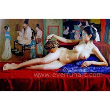 100% handgemachtes nacktes Frauen-Ölgemälde für Hauptdekoration