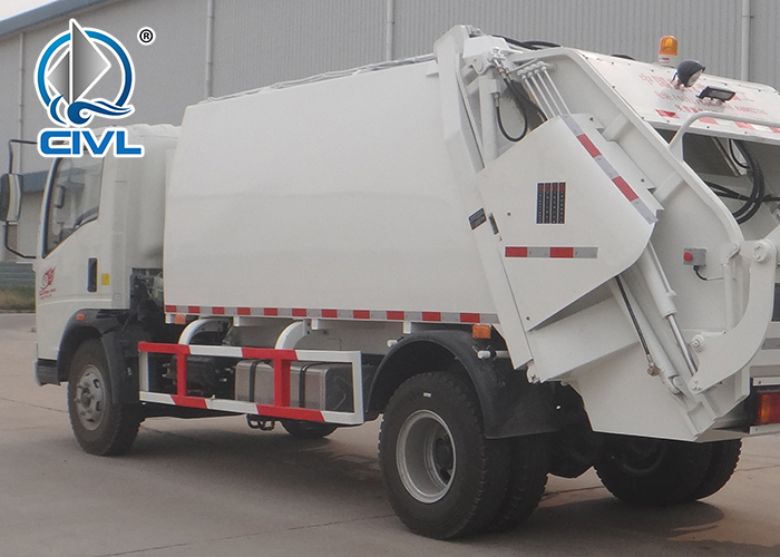 8m3 Compact Garbage Truck With Light Chassis 10