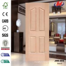 JHK-004 Grande quantité Design spécial Panneau de porte de bois naturel en placage de bois en Thaïlande