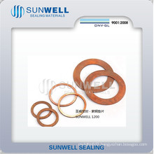 Red Copper Solid Copper Gasket High Quality