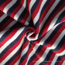 Maillot de rayures colorées au fil de chanvre / coton