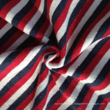 Hemp / fio de algodão colorido tingido Stripe Jersey