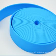 Sangle enduite adaptée aux besoins du client par polyuréthane tricoté par Jacquard de sensation douce imprimée par coutume