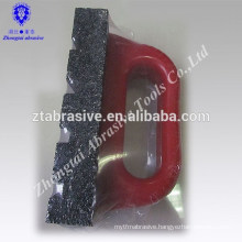 black silicon carbide grinding oil stone/Abrasive stone with red handle