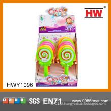 Mais populares de plástico de mão tambor doce brinquedo brinquedo de plástico para crianças