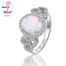 Manufacture price various color blue fire opal ring with high quality