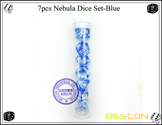 7pcs Nebula Dice Set-Blue-4