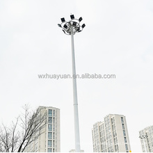 Customized octagonal 20m 25m 30m high mast flood lighting pole with factory price