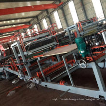 Aluminum Roof Making Discontinuous PU Sandwich Panel Production Line