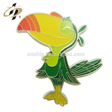Factory price wholesale custom parrot birds animal metal badge pin