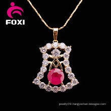 Silver Plated Big Pendant Newest Body Chain Necklace