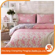 New design elegant flower printing bed sheet