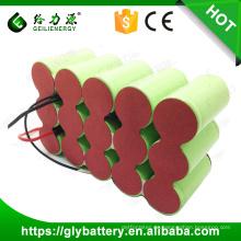 GLE benutzerdefinierte hohe Kapazität 3000mAh 4000mAh 5000mah wiederaufladbare Batterie Akku 18V NICD Batterie