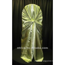 self-tie back chair cover,CT203 satin chair cover,universal chair cover