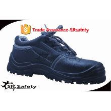 SRSAFETY 2015 промышленная безопасность обувь тиснение корова кожа безопасности обувь черные мужчины обувь