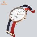 Mode Nylon Acier inoxydable Retour Daniel Wellington Style Watch 71255