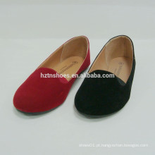 Delightful Cor Pure Microfibre superior plana mulher sapatos rodada Toe Ballet Flats Shoes