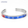 Custom Mens Stainless Steel Cuff Speedometer Gelang