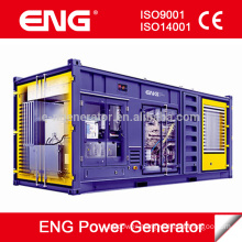 50Hz 1500rpm series 800kw generator container type with Cummins diesel engine KTA38-G5