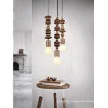 Long Shape Wooden Holder Pendant Lamp