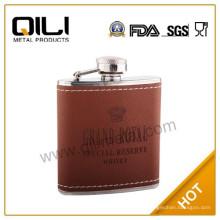 18/8 304 FDA und LFGB hochwertige 6oz braunen Krone royal Flachmann