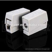 types de connecteurs de fils d'enceinte; connecteurs de bornes d'enceintes à ressort; bornier 2 broches