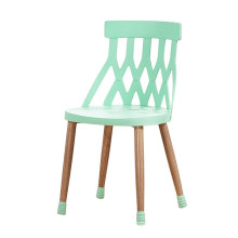Wholesale cheap China funiture stackable hollow removable plastic metal leisure chair